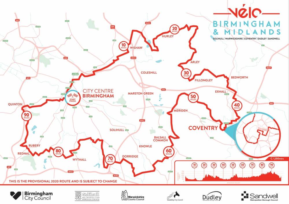 Birmingham & West Midlands 2020 Velo